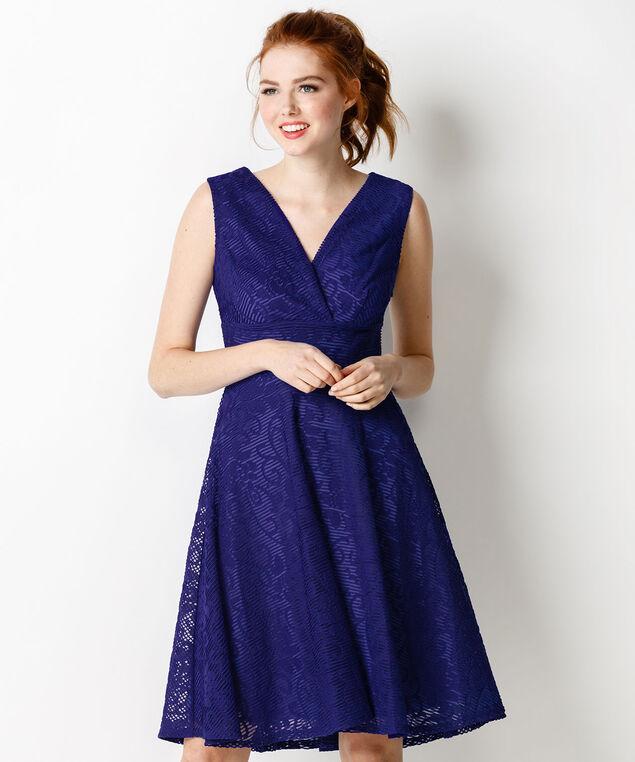 Sangria Burnout Lace Dress, Cobalt, hi-res
