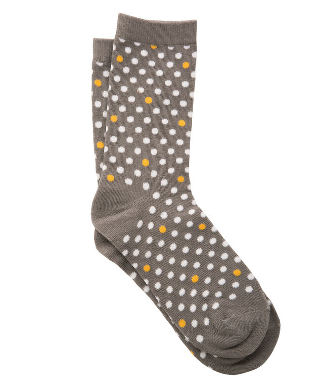Dot Print Socks, Sunflower/Grey/Milkshake, hi-res
