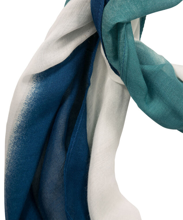 Ombre Eternity Scarf, Deep Teal/Black/Milkshake, hi-res