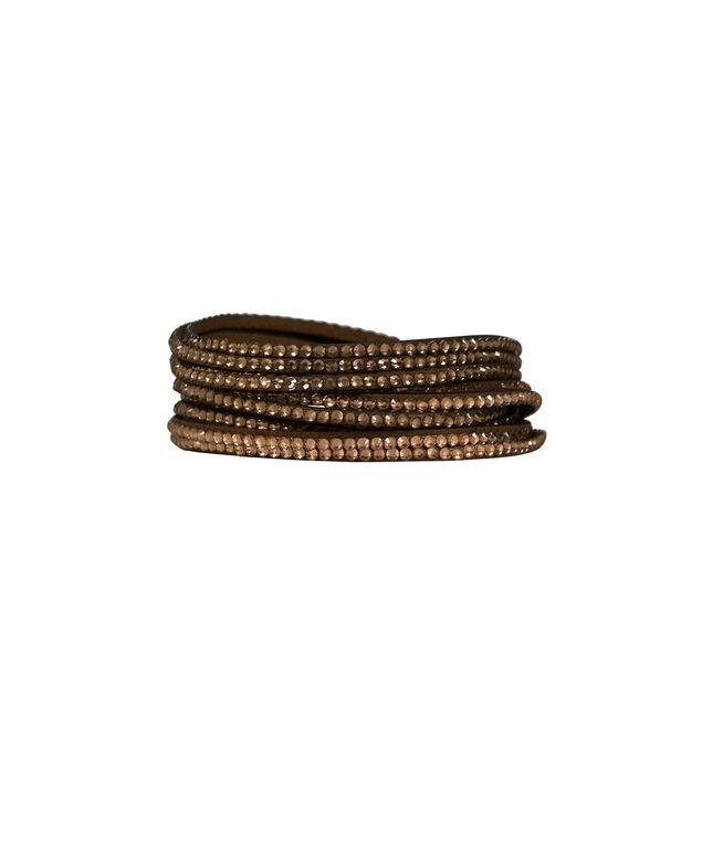 Wrap Bracelet, Brown/Hematite, hi-res