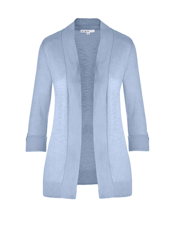 Washed Blue Lightweight Cardigan, Washed Blue, hi-res