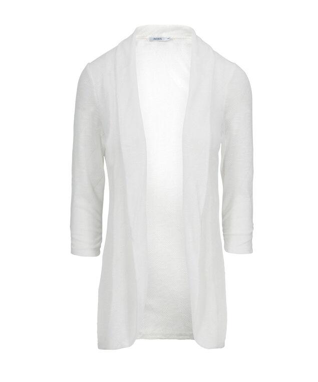 Chevron Shawl Collar Cover Up, Milkshake, hi-res