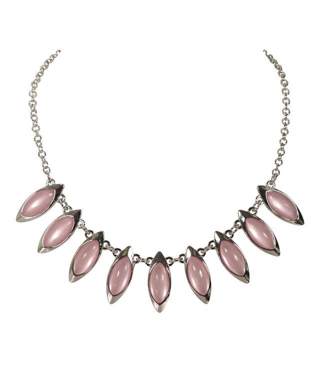 Teardrop Mini Statement Necklace, Soft Pink/Rhodium, hi-res