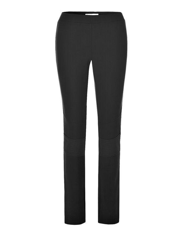 Black Seamed Legging , Black, hi-res