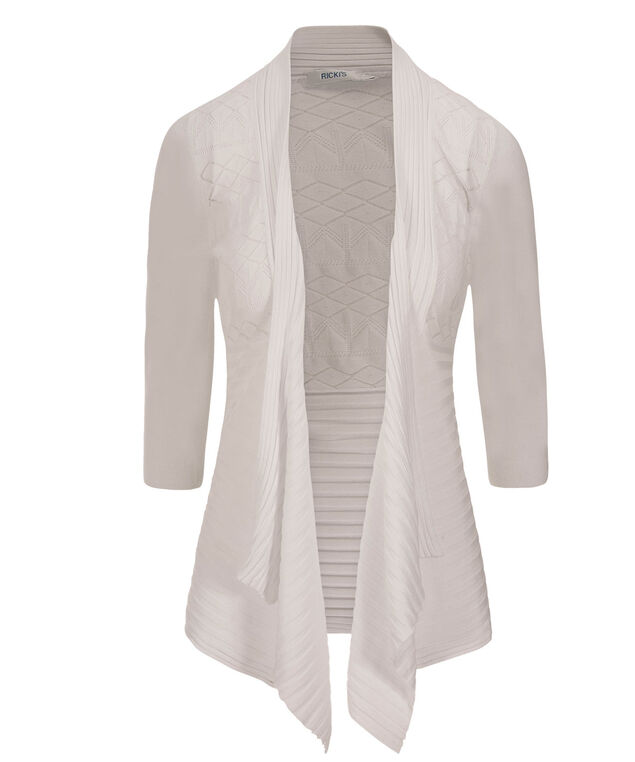Pointelle Sharbite Cardi, True White, hi-res