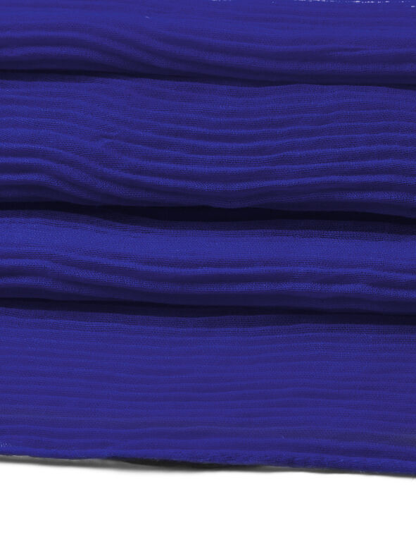 Royal Blue Pleated Scarf, Royal Blue, hi-res