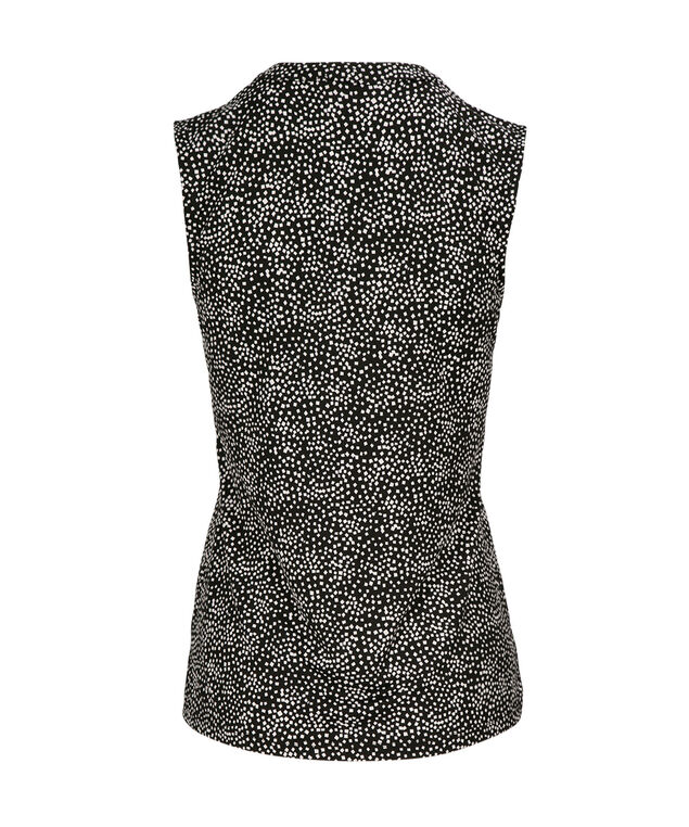 Sleeveless Button Front, Neutral Print, hi-res