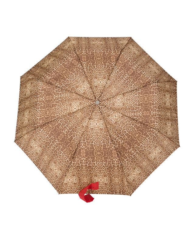 Leopard Print Umbrella, Brown Print, hi-res
