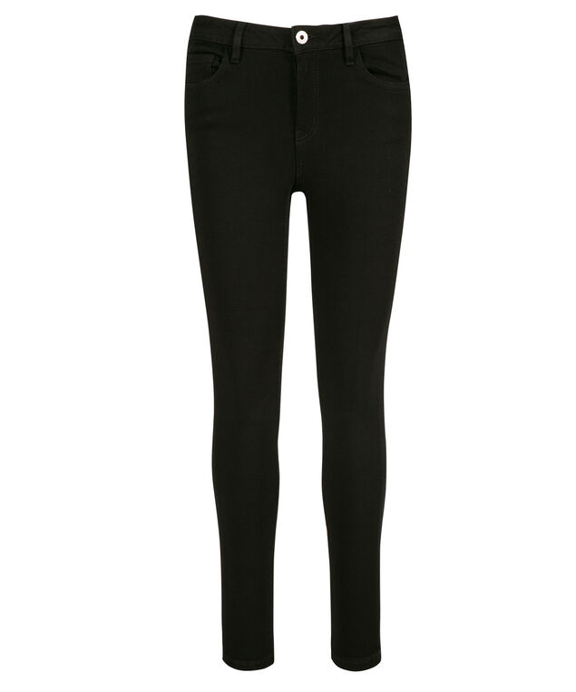 Fly Front Ultra Soft Jegging, Black, hi-res