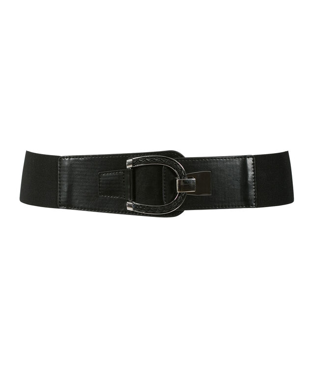 Wide Stretch Belt, Black, hi-res