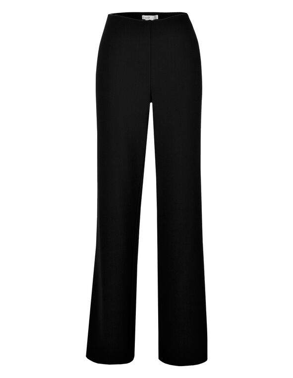Black Ottoman Trouser Pant, Black, hi-res