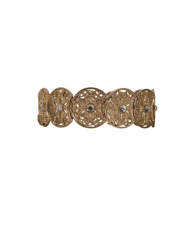 Filigree Circle Stretch Bracelet, Rose Gold, hi-res