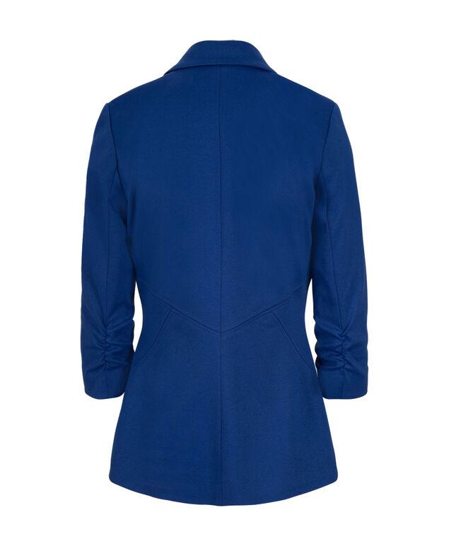 Knit Boyfriend Blazer, Ultra Blue, hi-res