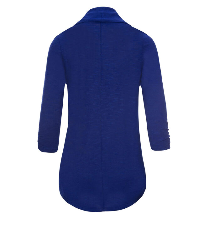Shawl Collar Cover-Up, Sapphire, hi-res