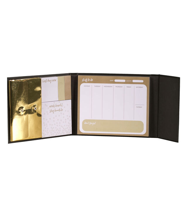 Best Day Ever Weekly Organizer, Black/Gold, hi-res