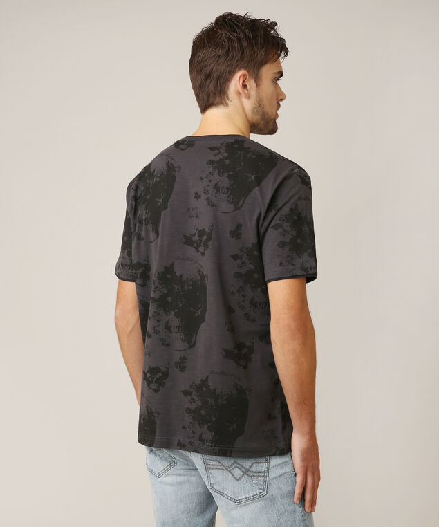 graphic skull tee, CHARCOAL, hi-res