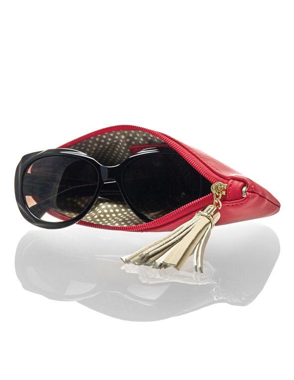 Coral Sunglasses Case, Coral/Gold/Stone, hi-res