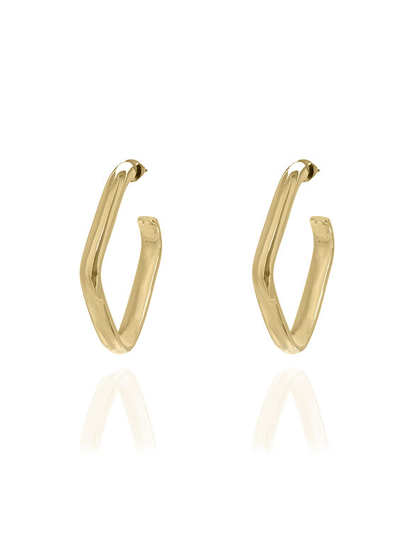Gold Geometric Earring, Gold, hi-res