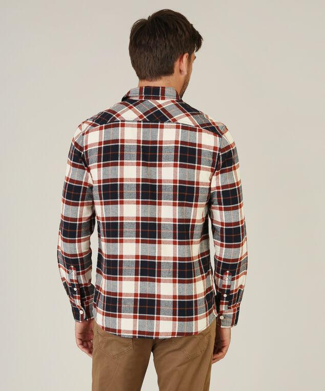 ivan plaid flannel shirt, BRICK PLAID, hi-res