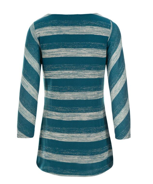 Stripe Hacci Tunic, Teal Print, hi-res