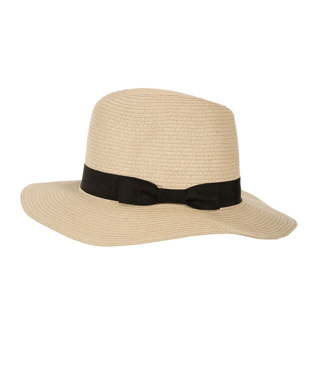 Ribbon Detail Panama Hat, Natural, hi-res