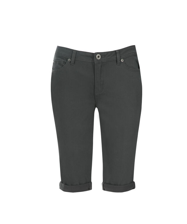 Brooke Power Stretch Bermuda Jegging, Grey, hi-res