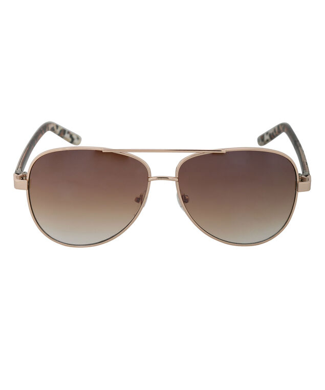 Aviator Sunglasses, Brown/Gold, hi-res
