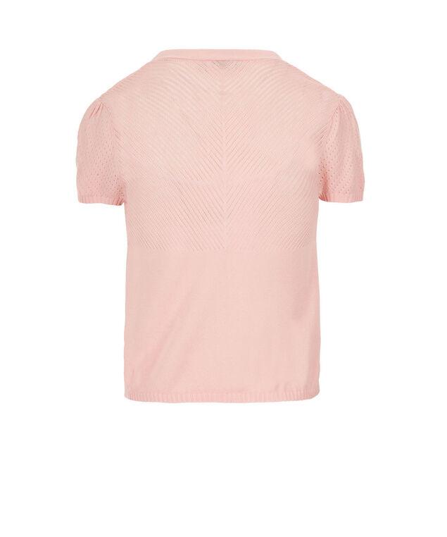 Pointelle Open Shrug, Misty Pink, hi-res
