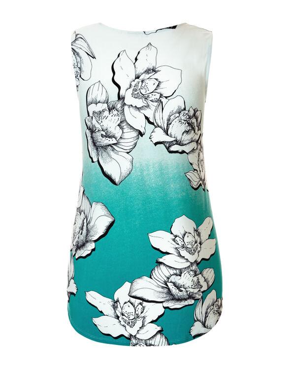 Rio Frio Floral V-Neck Top, Rio Frio/White/Black/Mint, hi-res