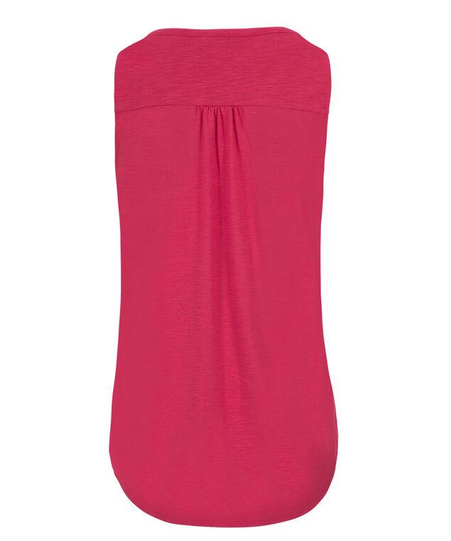 Trim Detail Henley, Vibrant Pink, hi-res