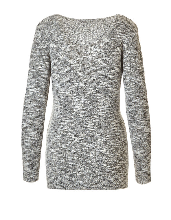 Boucle Sweater, Ivory/Gold, hi-res