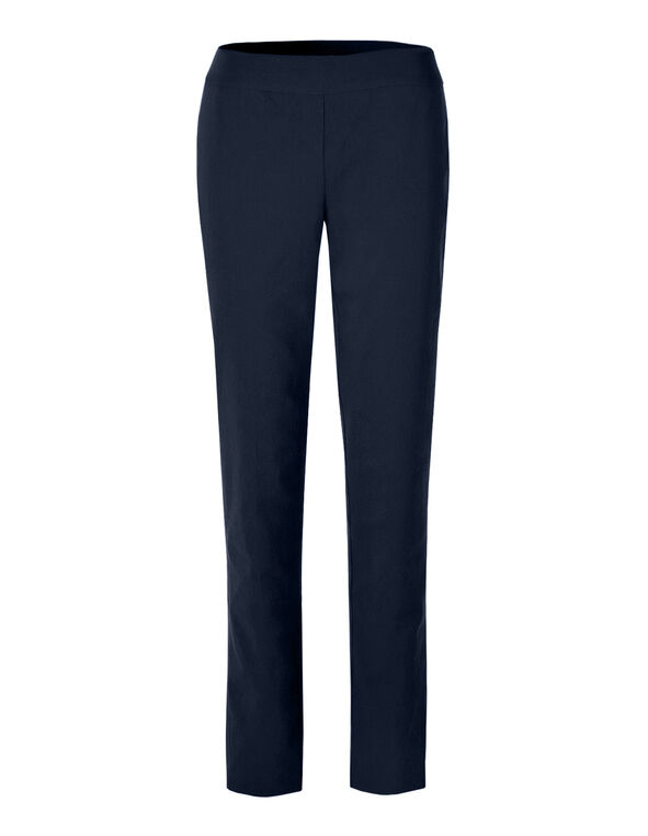 Navy Cleo Signature Slim Leg Pant, Navy, hi-res