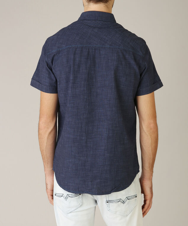 2 pocket button down - wb, BLUE, hi-res