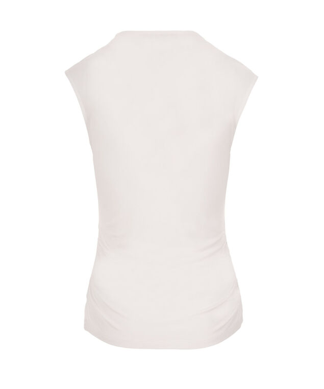 V-neck Ruched Top, True White, hi-res