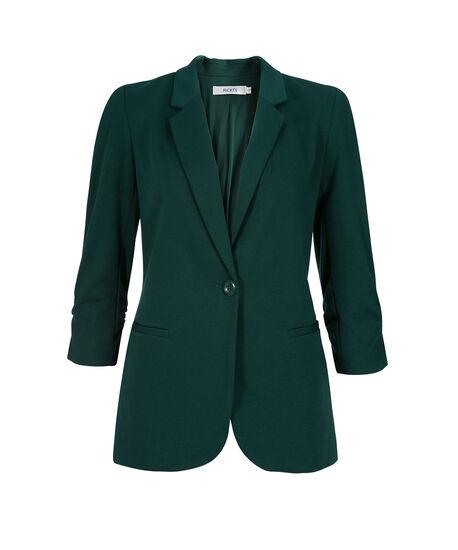 Knit Boyfriend Blazer, Deep Emerald, hi-res