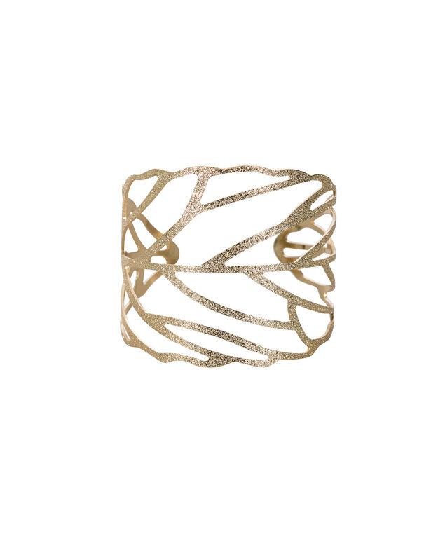 Leaf Cuff Bracelet, Soft Gold, hi-res