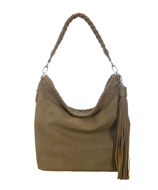 Braided Strap Buckle Bag, Soft Brown, hi-res