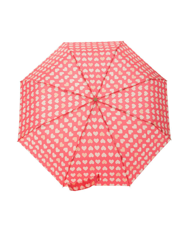 Heart Print Umbrella, Pink, hi-res