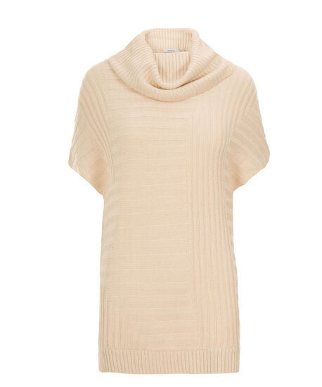 Ribbed Cowl Pullover, Almond, hi-res