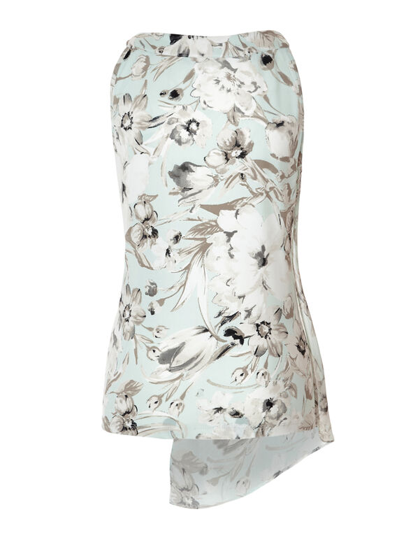 Mint Floral Overlay Top, Mint/Stone/Ivory/Mushroom, hi-res