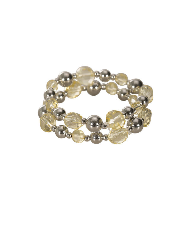 Faceted Stone Stretch Bracelet Set, Yellow/Rhodium, hi-res