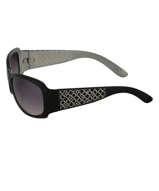 Pattern Arm Sunglasses, Black, hi-res