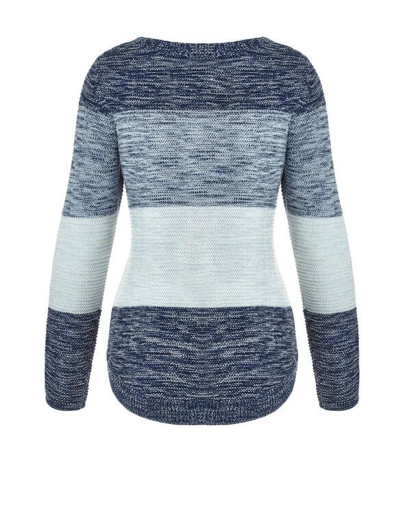Round Hem Ombre Sweater, Petrol Ombre, hi-res