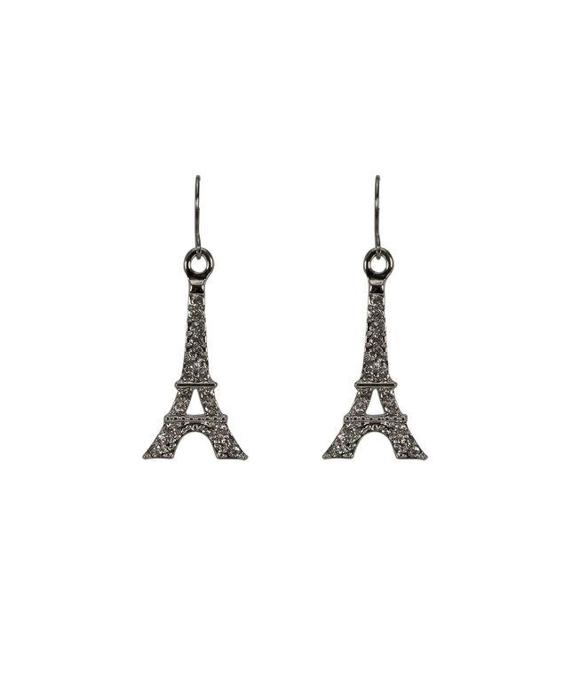 Eiffel Tower Earring, Rhodium, hi-res