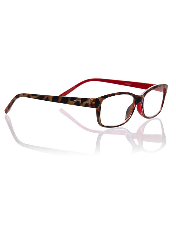 Red Tortoise Shell Reader, Red, hi-res