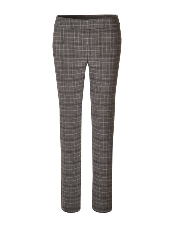 Cleo Signature Brown Plaid Pant, Brown Plaid, hi-res