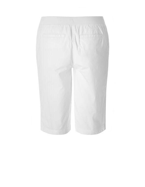 White Poplin Short, White, hi-res