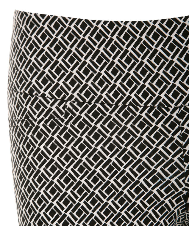Microtwill Crop Super Slim Leg , Black/White Print, hi-res