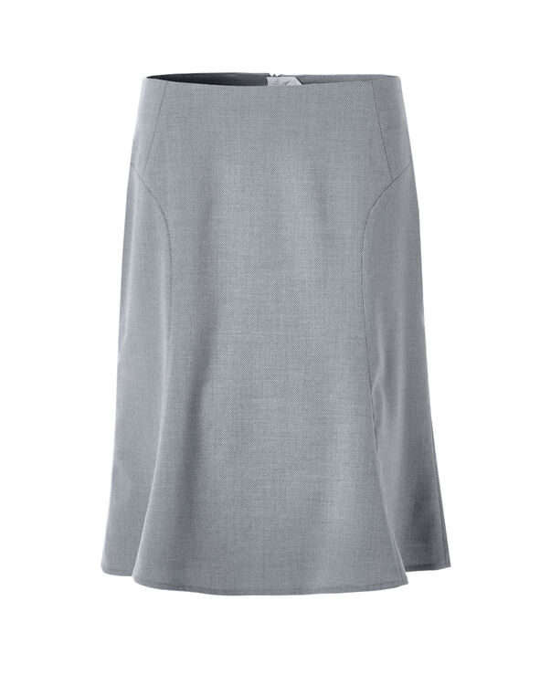Birdseye Flippy Skirt, Grey/White, hi-res