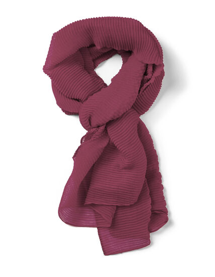 Clay Pleated Scarf, Clay, hi-res